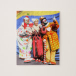 """Vintage Circus Clown Puzzle<br><div class=""""desc"""">Enjoy piecing together this fabulous colorized photo of two of the most famous veteran circus clowns of the 20th century,  Mr. Felix Adler and Mr. Paul Jung.</div>"""