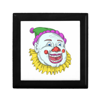 Vintage Circus Clown Smiling Drawing Jewelry Box