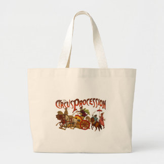 Vintage Circus  Clowns and Horses Plain Large Tote Bag