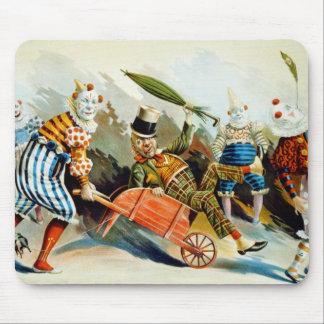 Vintage Circus Clowns Art Mouse Pad