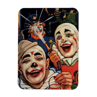Vintage Circus Clowns, Silly Funny Humorous Magnets