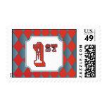 Vintage Circus Diamond 1st Postage Stamps