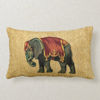 Vintage Circus Elephant and Bear Pillows