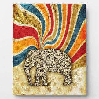 Vintage Circus Elephant Big Top Plaque