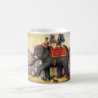 Vintage Circus Elephant Classic White Coffee Mug