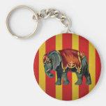 vintage circus elephant keychain