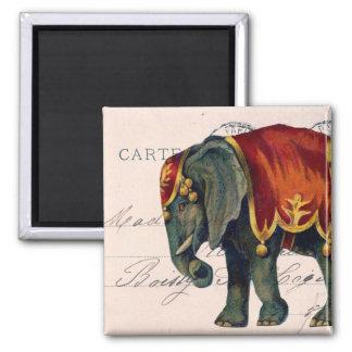 Vintage Circus Elephant Magnet