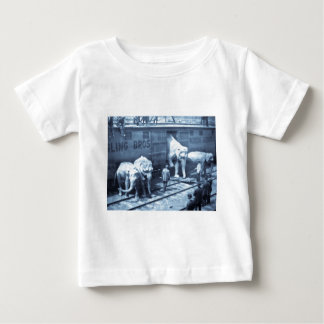 Vintage Circus Elephants Ringling Railroad Car Baby T-Shirt