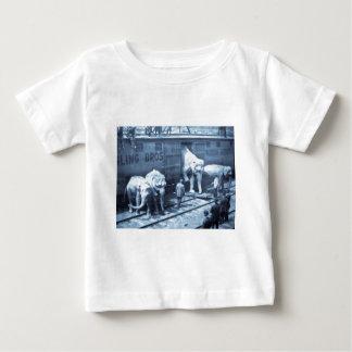 Vintage Circus Elephants Ringling Railroad Car Baby T-Shirt