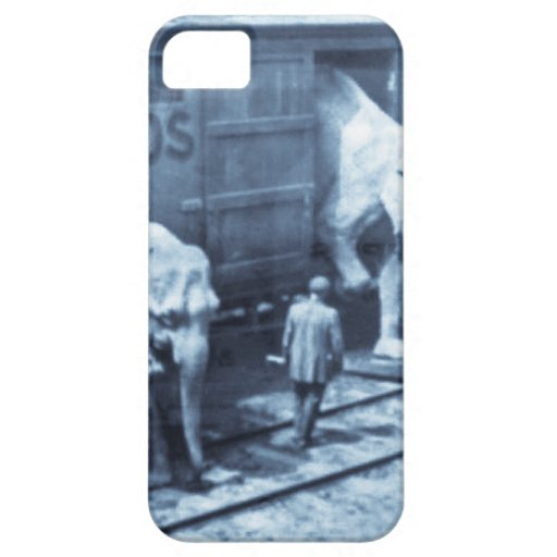 Vintage Circus Elephants Ringling Railroad Car iPhone 5 Covers