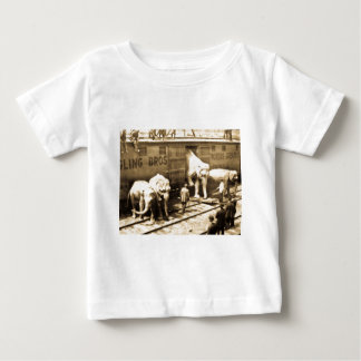 Vintage Circus Elephants Unloading from Train Car Baby T-Shirt