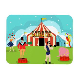Vintage Circus Flexible Magnet