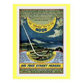 Vintage circus Forepaugh and Sells moon trip Post Cards