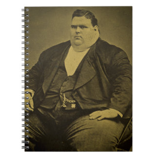 Vintage Circus Freak Sideshow Fat Man Spiral Note Book