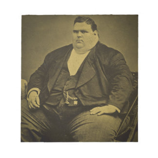 Vintage Circus Freak Sideshow Fat Man Notepad