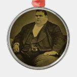 Vintage Circus Freak Sideshow Fat Man Christmas Ornament