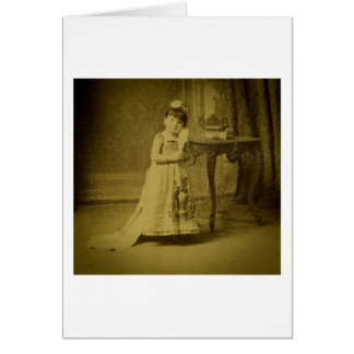 Vintage Circus Freak Woman Card