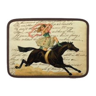 Vintage Circus Girl Acrobat Macbook Sleeve