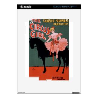 Vintage-Circus-Girl-Poster Skin For iPad 3