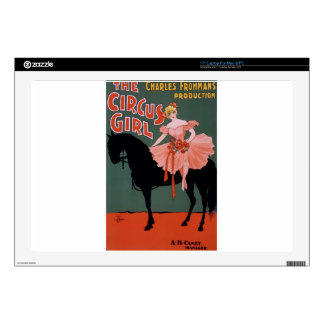 """Vintage-Circus-Girl-Poster Skins For 17"""" Laptops"""