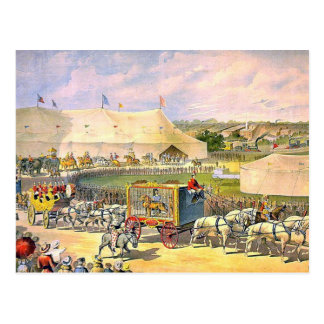 Vintage Circus Grounds Postcard