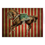 vintage circus horse card
