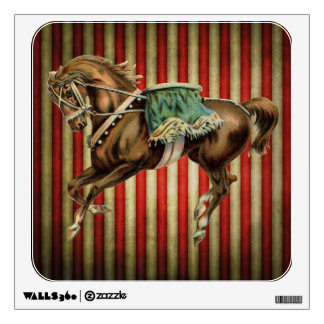vintage circus horse room decal