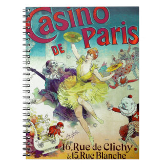 Vintage circus illustration French cabaret Paris Notebook