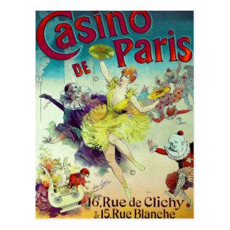 Vintage circus illustration French cabaret Paris Postcard