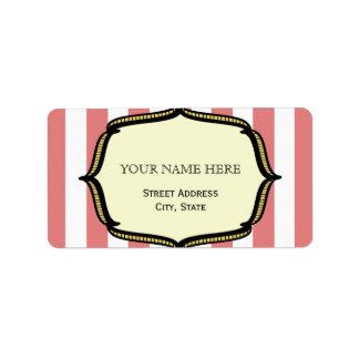 Vintage Circus Inspired Address Label