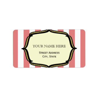 Vintage Circus Inspired Address Label