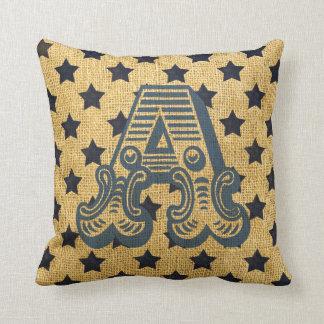 Letter A Throw Pillow : Americana Pillows - Decorative & Throw Pillows Zazzle