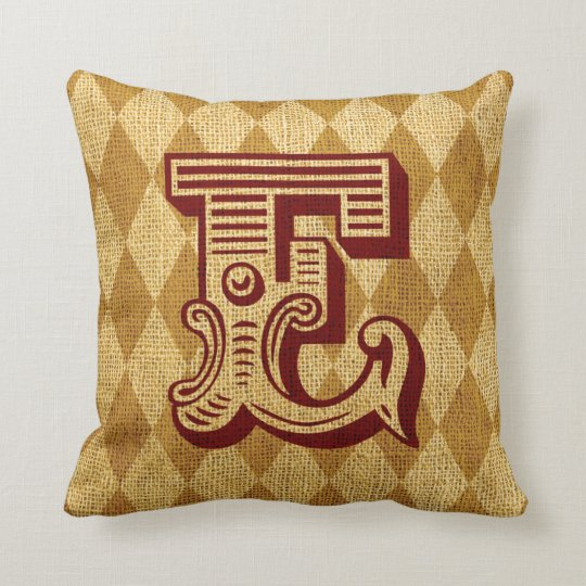 Vintage Circus Letter E Throw Pillow Zazzle