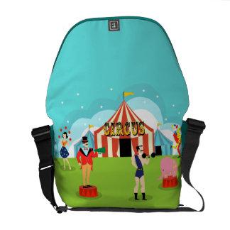 Vintage Circus Messenger Bag