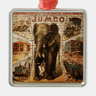 Vintage circus metal ornament