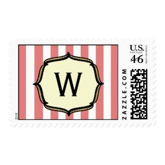 Vintage Circus - Monogram Postage stamp