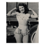 Vintage Circus Muscle Girl Photo Poster