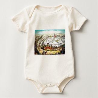 Vintage Circus Parade Baby Bodysuit