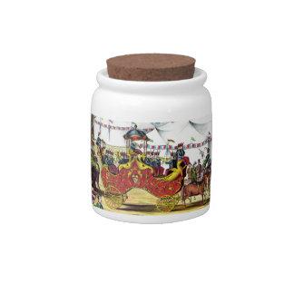 Vintage Circus Parade Candy Jar