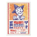 Vintage Circus Party Invitation