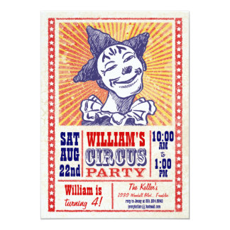 Vintage Circus Party Invitation