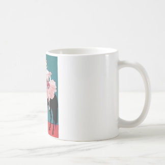 Vintage Circus Performer with a Black Horse Coffee Mug