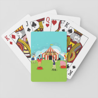 Vintage Circus Playing Cards