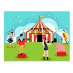 Vintage Circus Postcard