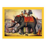 Vintage Circus Poster Art - Performing elephant Post Card