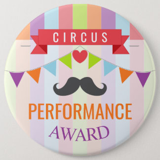Vintage Circus Poster Children's Birthday Party Button