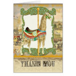 Vintage Circus Poster, Giraffe Baby Shower Stationery Note Card