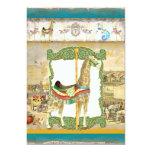Vintage Circus Poster, Giraffe Birthday Party Card
