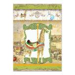 Vintage Circus Poster, Giraffe Birthday Party Invitations
