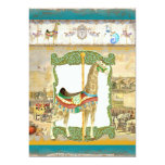 Vintage Circus Poster, Giraffe Birthday Party Custom Invite